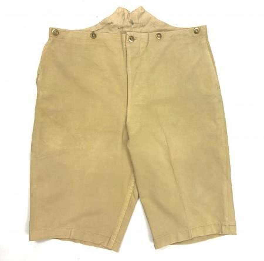 Rare Early British Khaki Drill Shorts
