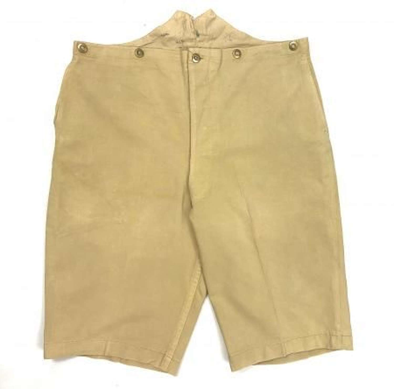 Rare Early British Khaki Drill Shorts