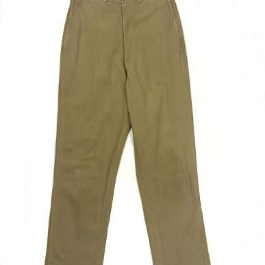 Scarce Early 20th Century British Officers Khaki Drill Trousers