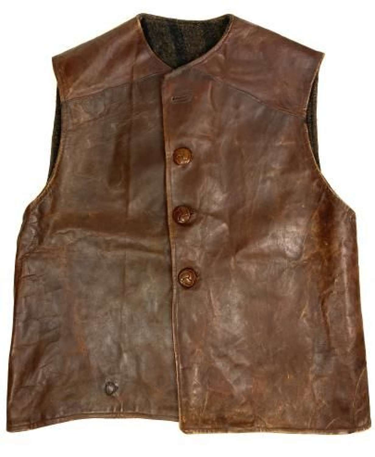 Original Great War Indian Made Leather Jerkin by 'A.G.A'