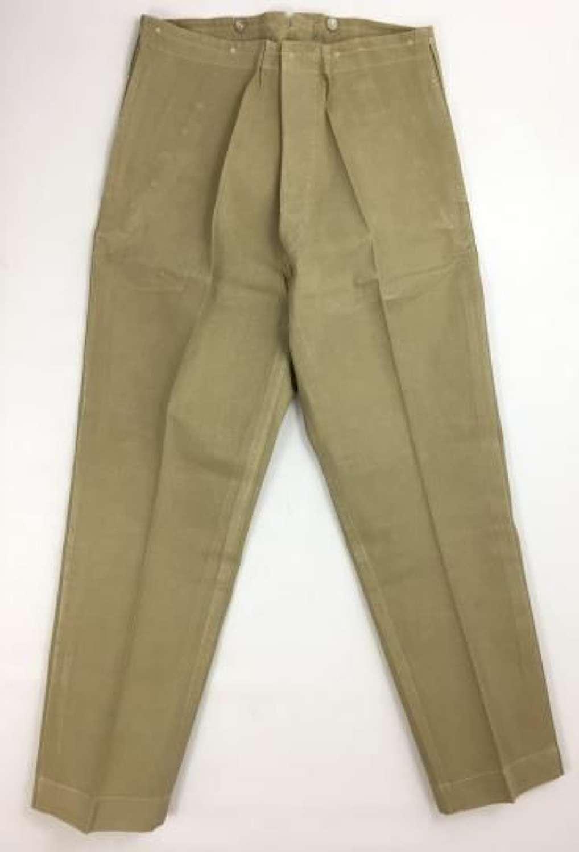 Original Great War Period British Officers Khaki Drill Trousers