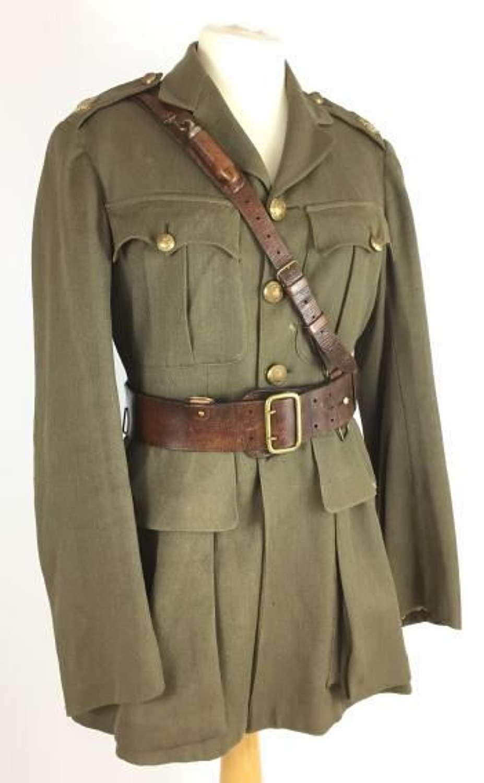 Original 1917 Dated Tunic and Sam Brown Belt - 19th Batt, London Regiment (St Pancras Rifles)