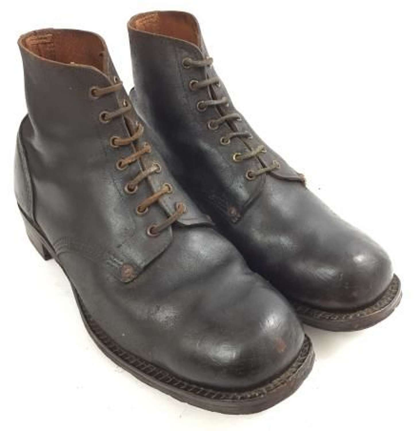 Original 1915 Dated British Army B5 Ankle Boots