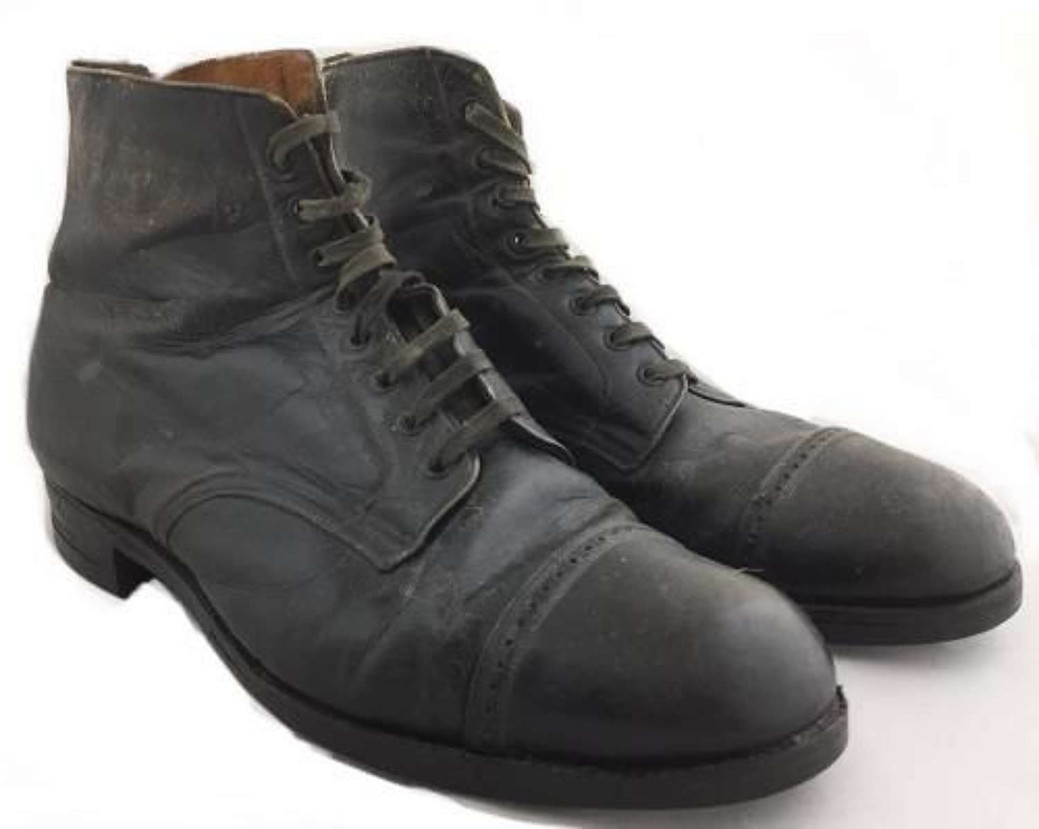 Original Edwardian / Great War Period Ankle Boots by 'Grenson'