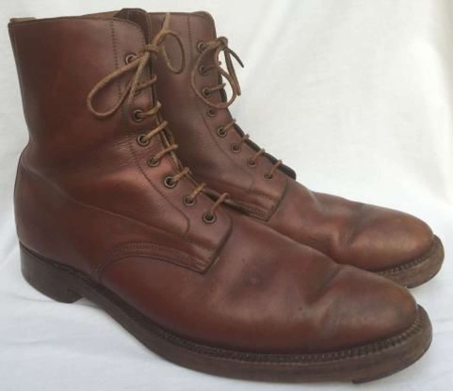 Great War Era Brown Officers Ankle Boots