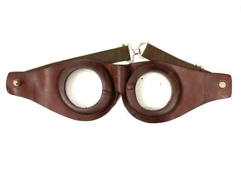 Original Early Great War Rubber Goggles - RFC MK 1