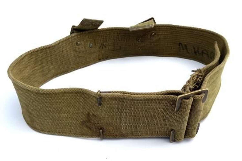 Original British Army 1908 Pattern Webbing Belt - Size L