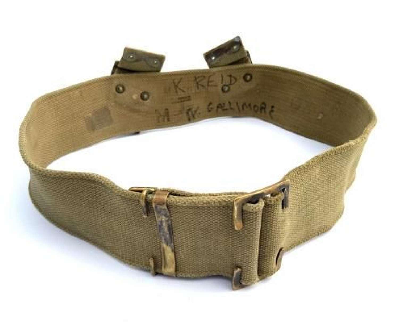 Original British Army 1908 Pattern Webbing Belt - Size M