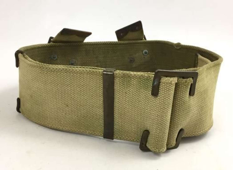 Original 1908 Pattern British Army Webbing Belt - Size M