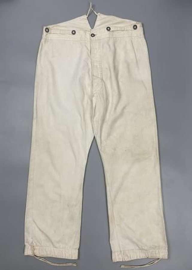 Original WW1 Period German White Fatigue Trousers