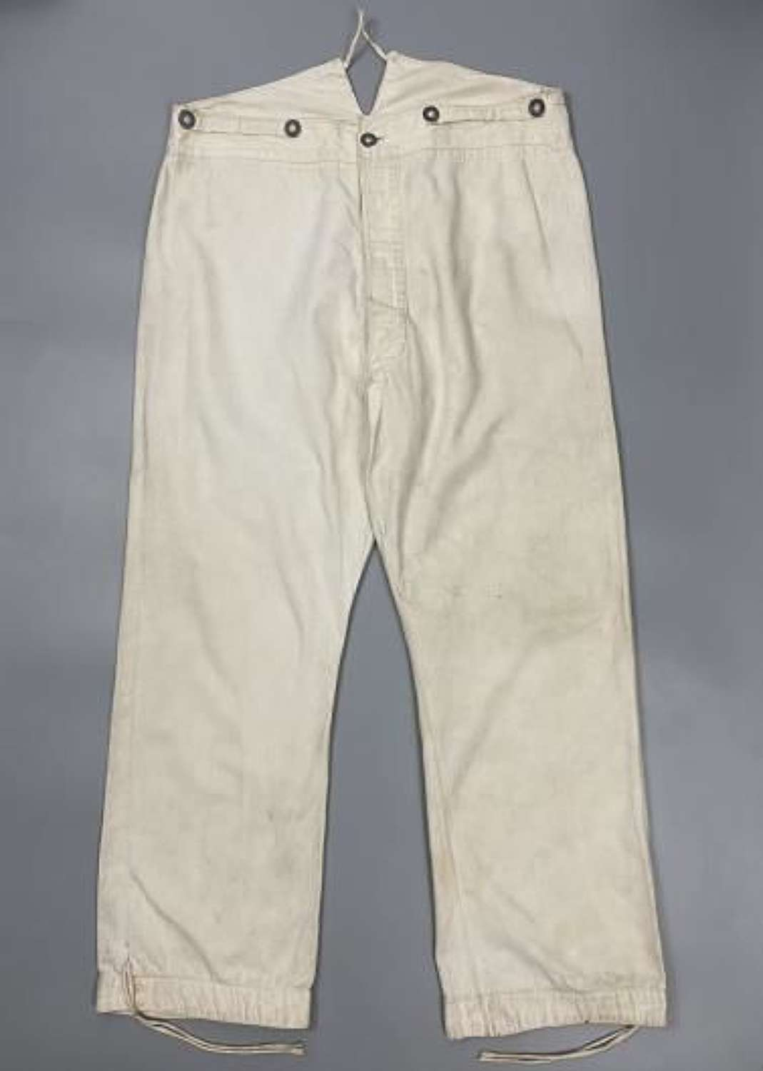 Original WW1 Period German White Fatigue Trousers