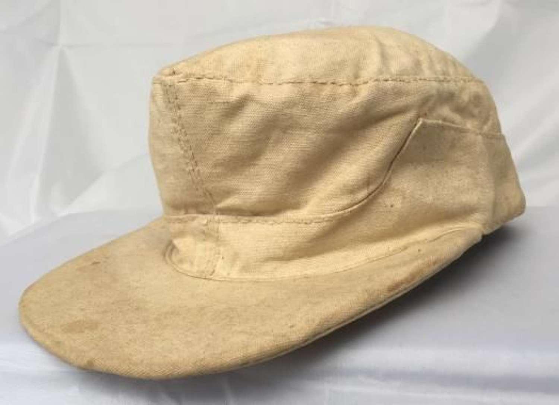 Rare Prisoner Of War Made German Feldmutze Ski Cap