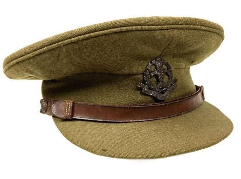 Original WW2 British Army Officers Cap - Middlesex Regiment