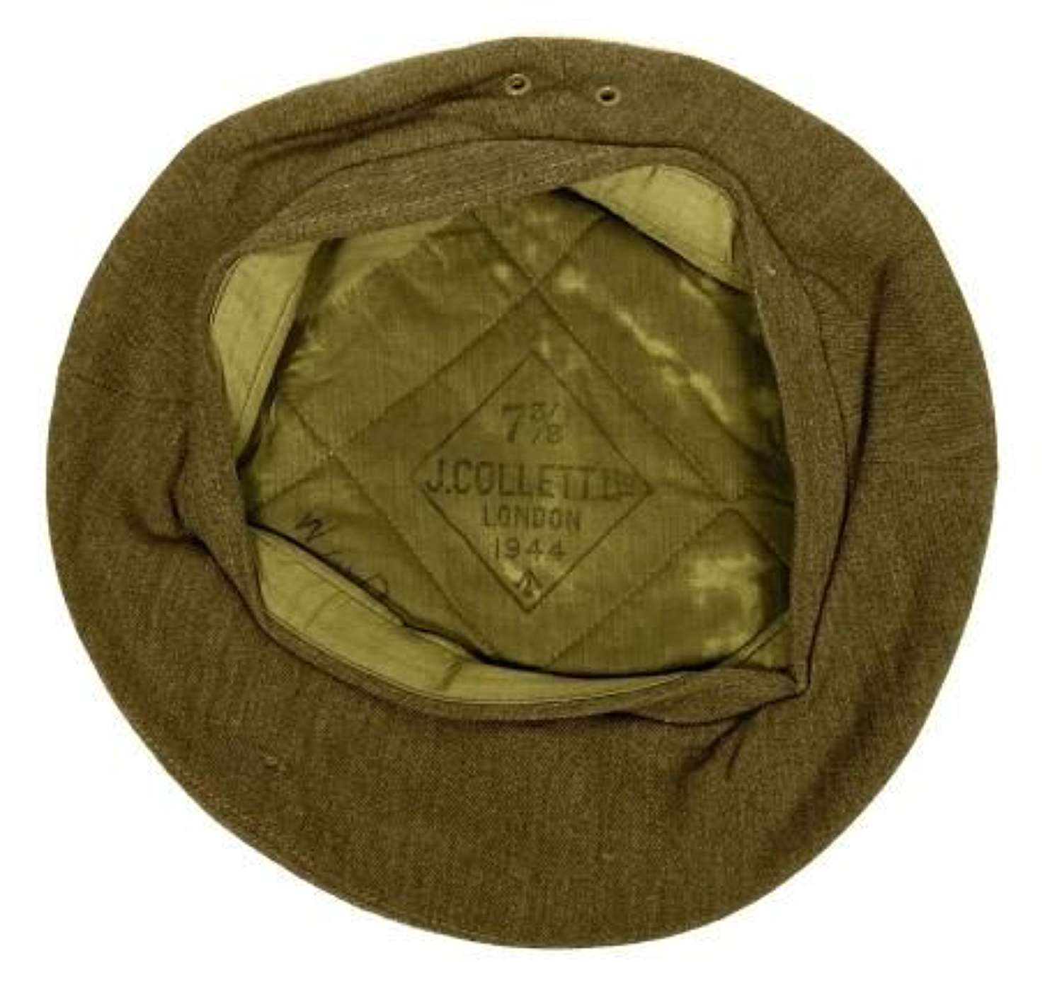 Original 1944 Dated British Army General Service Beret by 'J. Collett' - Szie 7 3/8