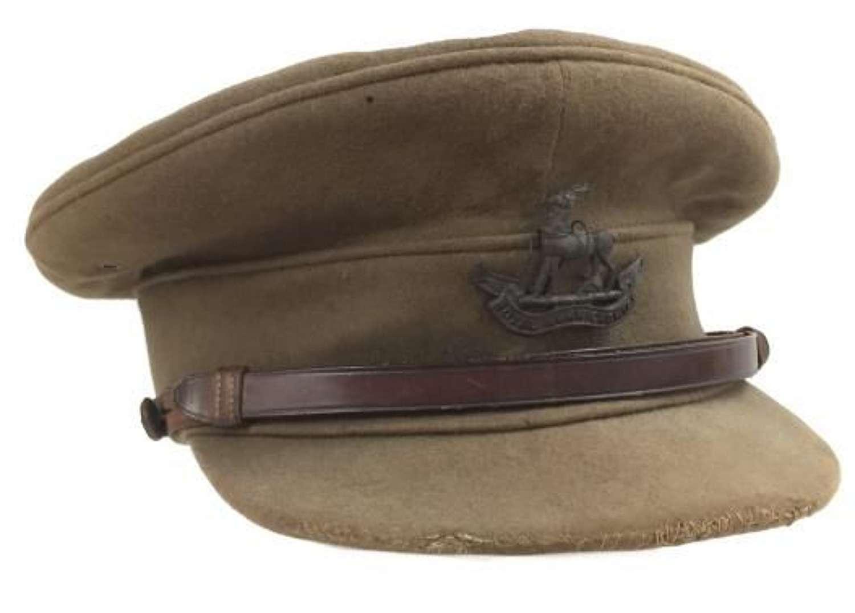 Original Warwickshire Regiment Officers Peaked Cap