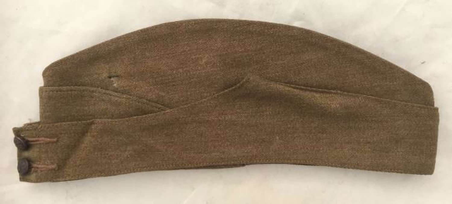 1942 Dated British Army Forage Cap - Size 7 3/8