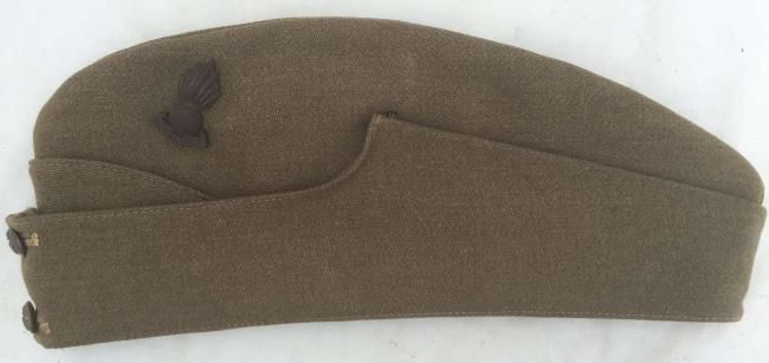 Original Royal Artillery Officers Forage Cap With Plastic Economy Cap Badge