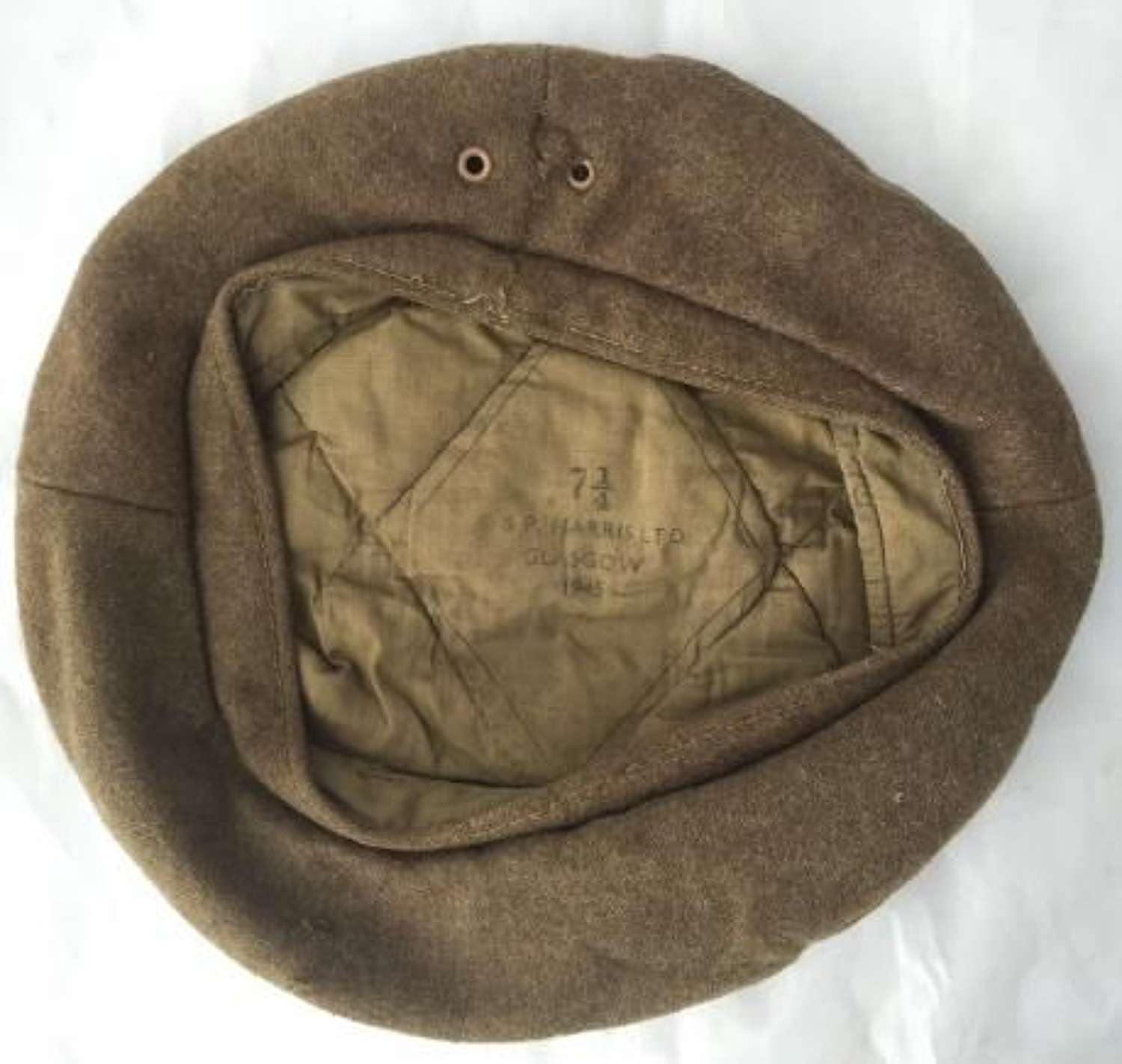 1945 Dated British Army GS Beret Size 7 1/4 By 'S & P Harris'