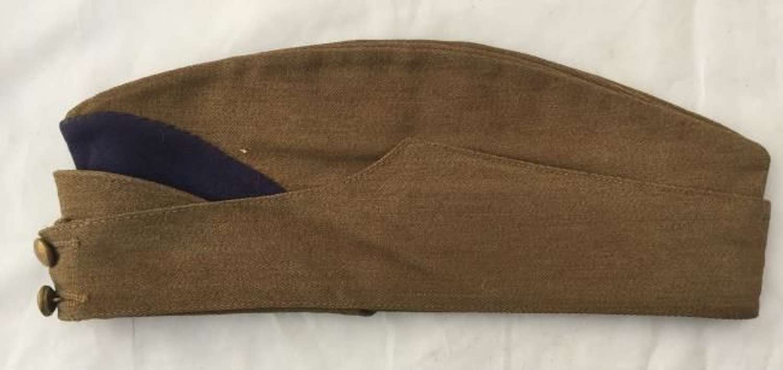 WW2 British Army Forage Cap Side Hat With Purple Flash