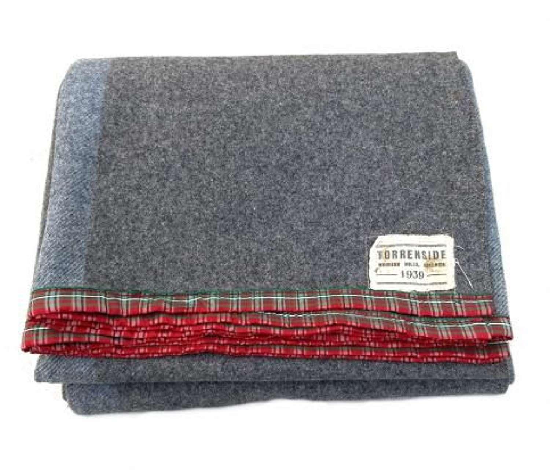 Original 1939 Dated Grey Wool Blanket
