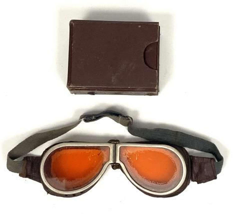 Original WW2 MT Goggles + Case - Tinted Lenses