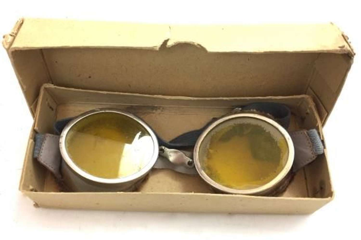 Original Round British Army MT Goggles - Yellow Lenses