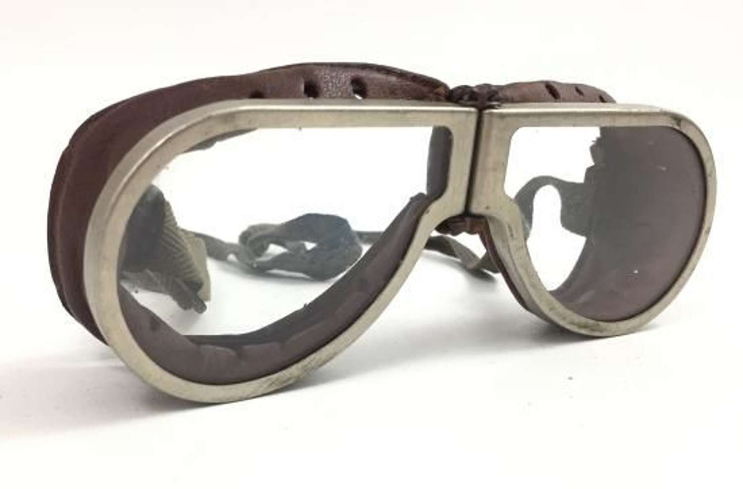 Original WW2 British Army MT Goggles - Clear Lenses