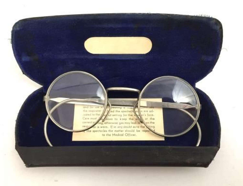 Original WW2 British Army Issue Respirator Spectacles