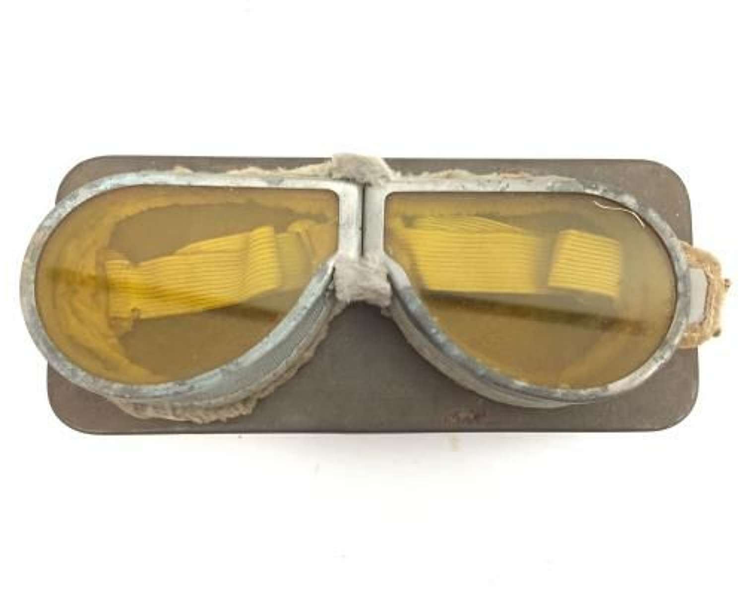 Original British Army MT Goggles with Yellow Lenses