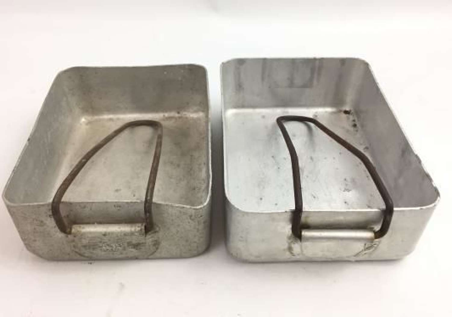 A Matched Pair of 1939 Dated British Army Mess Tins by 'E & Co'