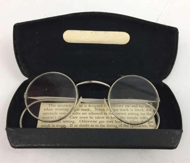 Original British Army Issue Anti Gas Respirator Spectacles