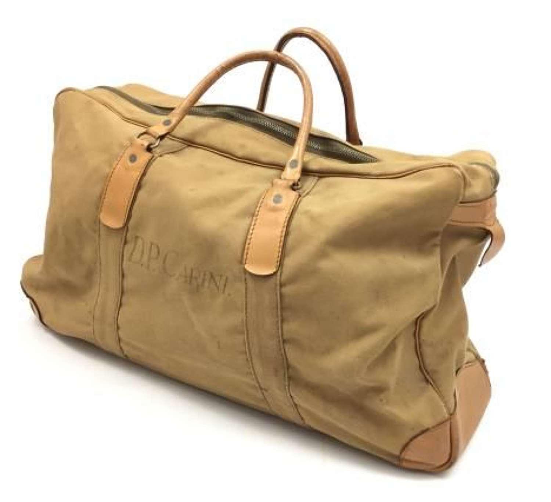 Original WW2 Period British Army Officers Khaki Grip Holdall Bag