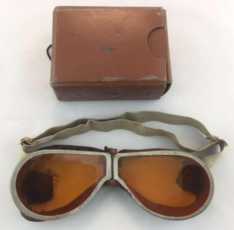 Original WW2 Drivers Goggles and Case