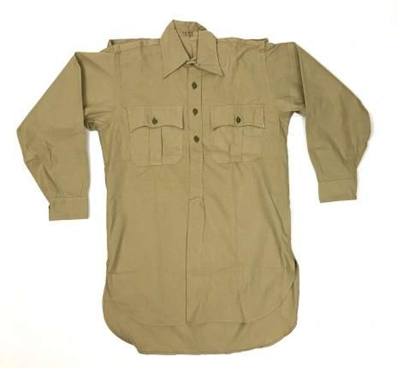 Rare original 1941 Dated British Army Khaki Drill Shirt (2)