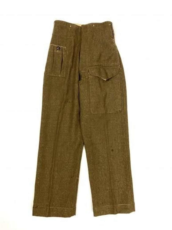 Original 1942 Dated 1940 Pattern British Army Battledress Trousers