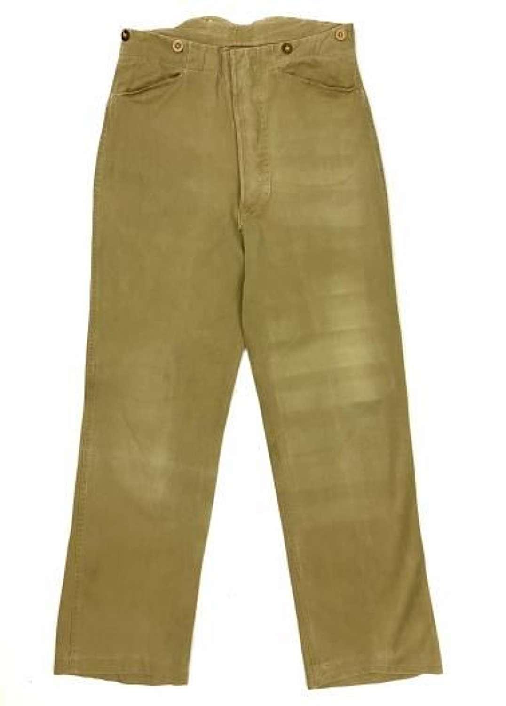 Original WW2 British Military Khaki Drill Trousers