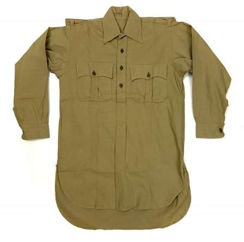 Rare original 1941 Dated British Army Khaki Drill Shirt