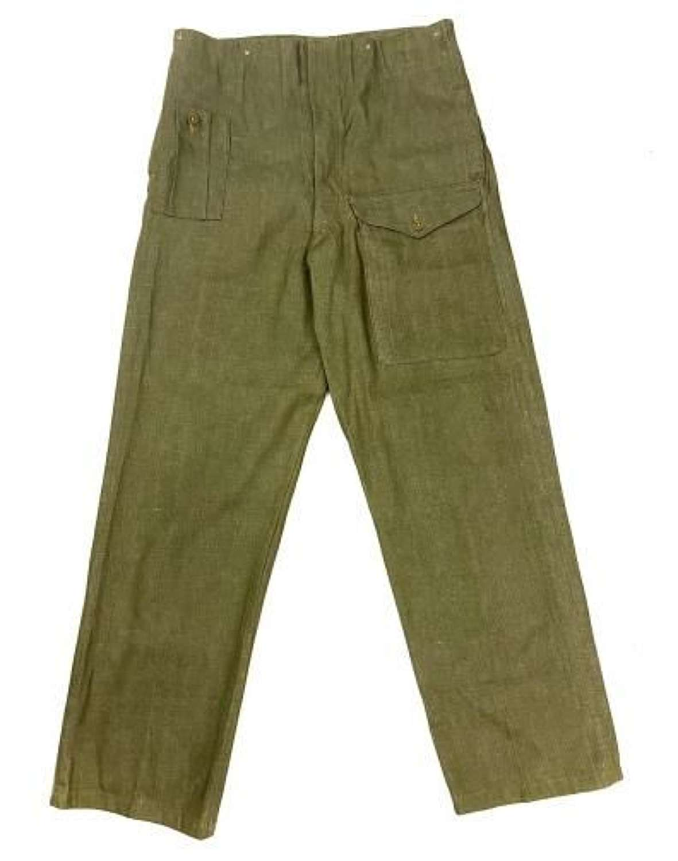 Original British Army Denim Battledress Trousers - Size 7