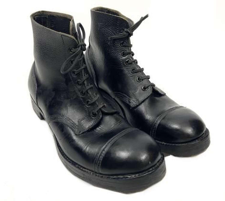 Original 1940 Dated British Army Ammunition Boots - Size 9