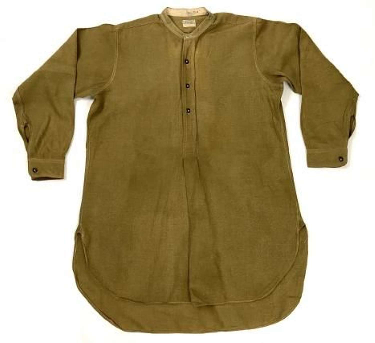 Original WW2 British Army Officers Collarless Shirt + Collar by 'W. M. Anderson & Sons Ltd'