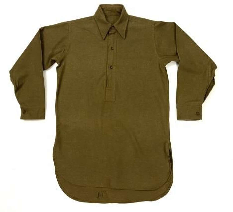 Original Late WW2 British Army Ordinary Ranks Collared Shirt by 'WLB'