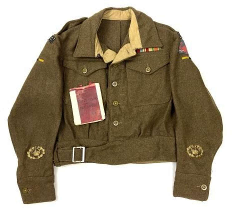 Original 1946 Dated RASC Warrant Officers Battledress Blouse and A.B. 64 Paybook