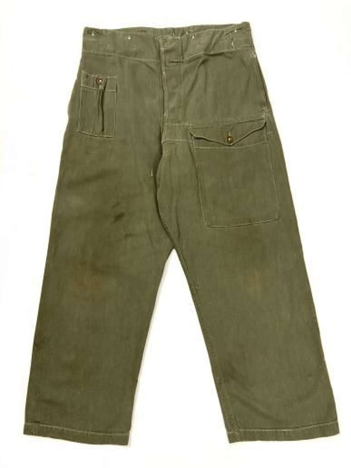 Original British Army Denim Battledress Trousers