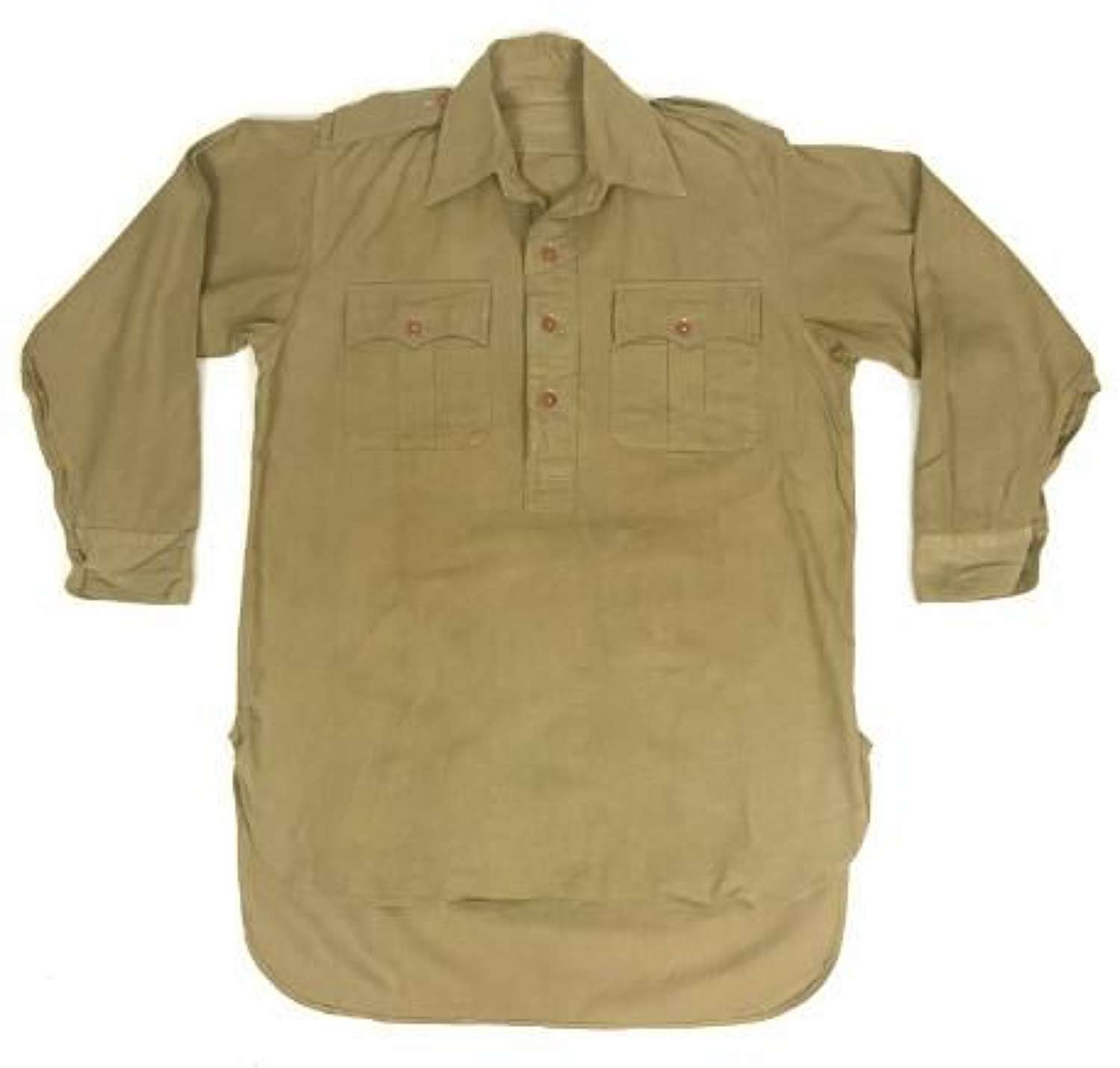 Original WW2 British Army Officers Khaki Drill Shirt