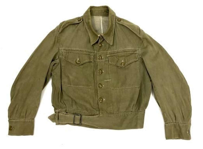 Original 1945 Dated British Denim Battledress Blouse - Size No. 4