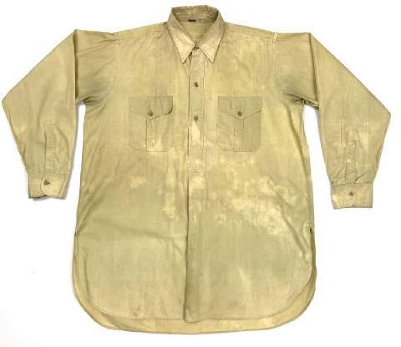 Original WW2 British Army Officers Private Purchase Khaki Drill Shirt