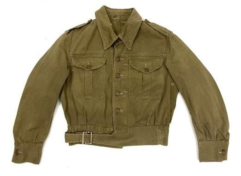 Original Early WW2 British Army Denim Battledress Blouse - Size 1