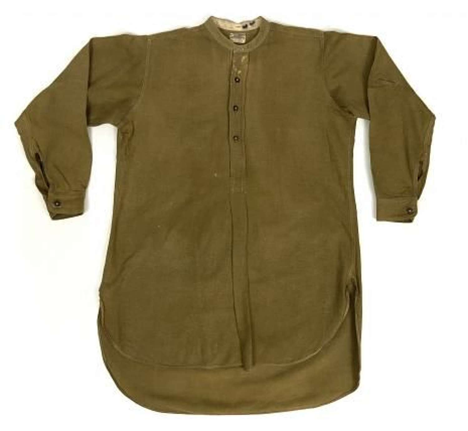 Original WW2 British Army Officers Collarless Shirt + Collars by 'W. M. Anderson & Sons Ltd'