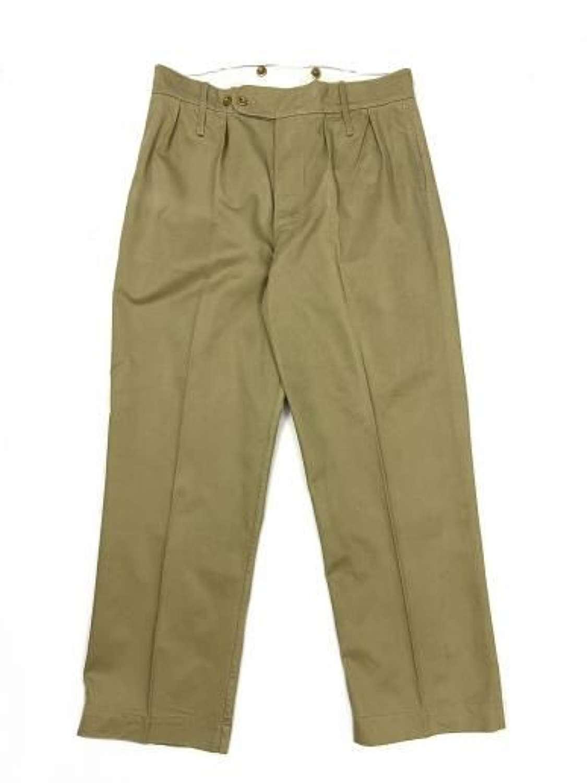 Original 1940s British Khaki Drill Trousers