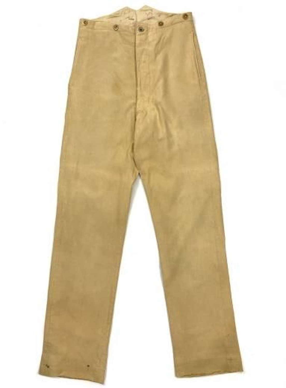 Original British Khaki Drill Service Dress Trousers